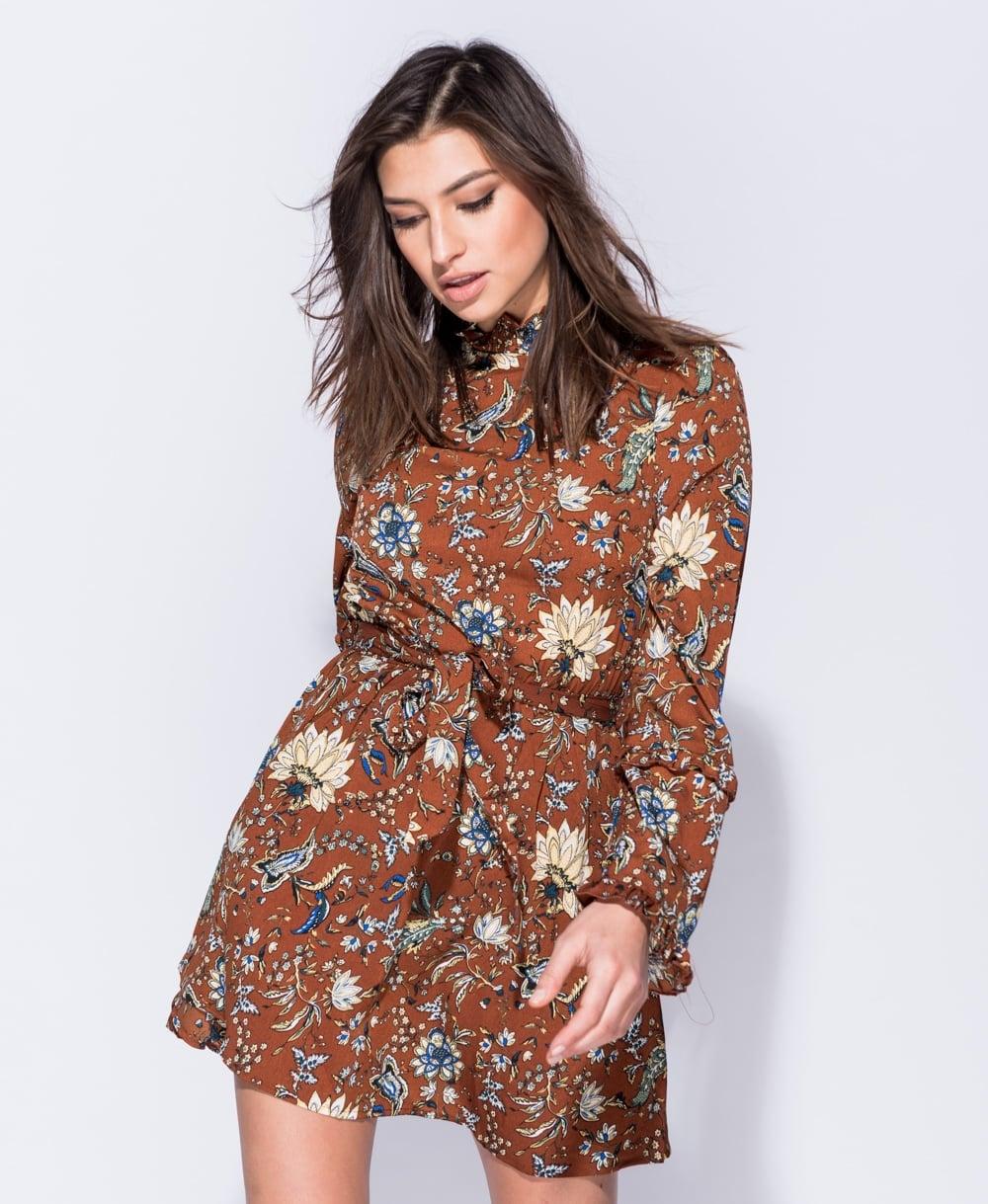6e0a4bbcb0e0 boho 70s floral mini φόρεμα τουνίκ Cora