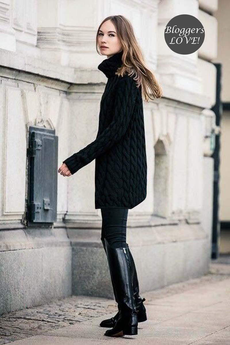 92c00c097469 blogger mini πλεκτό φόρεμα Susan black