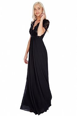 ee4afd4a175b shinny paillete top αέρινο μαύρο φόρεμα Daphne ...