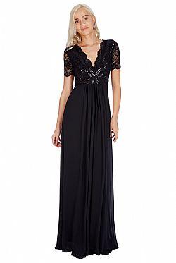 3b771987952d ... shinny paillete top αέρινο μαύρο φόρεμα Daphne