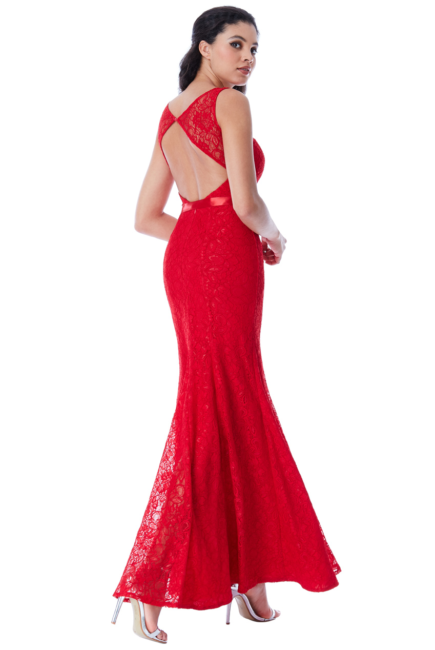 21438738f8a8 romantic hot red open back φόρεμα δαντέλα