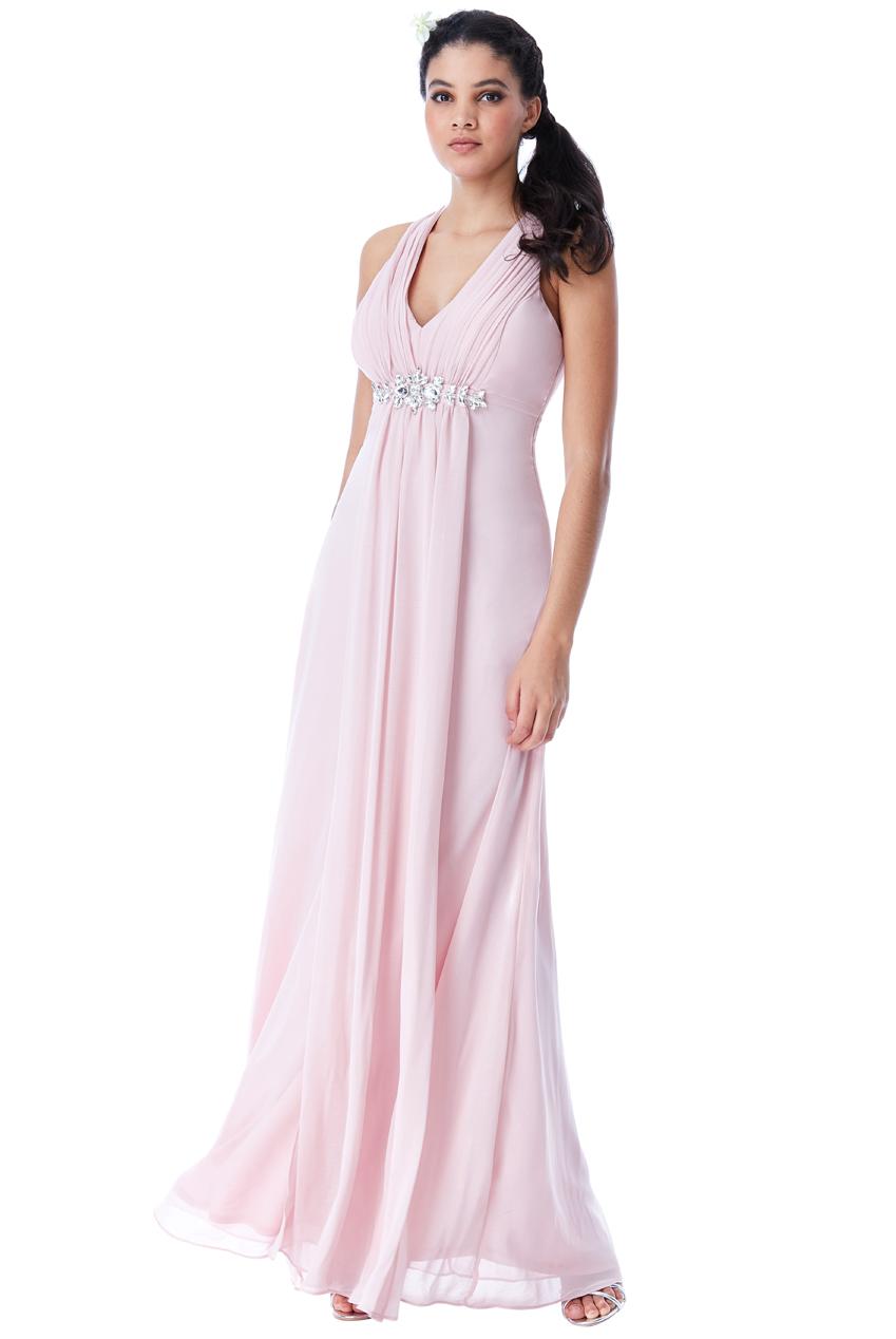 αέρινο princess maxi φόρεμα σε ροζ blush 2191fd0a4d3