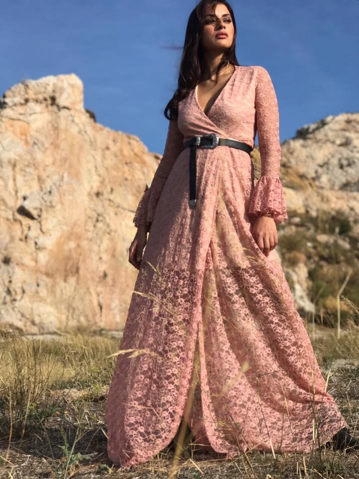 boho romance κρουαζέ maxi φόρεμα Trinity 2000b91087f