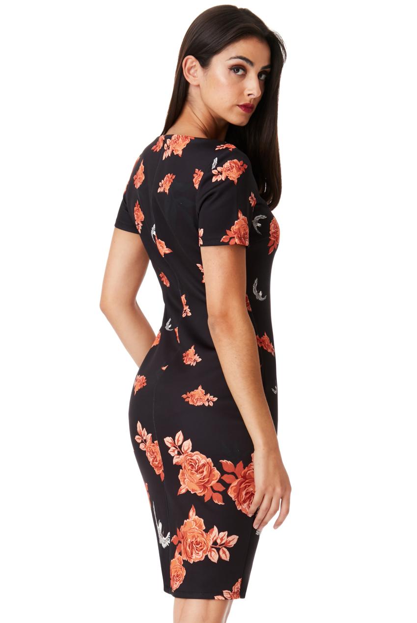 chic cocktail oriental floral φόρεμα a445a341ec1