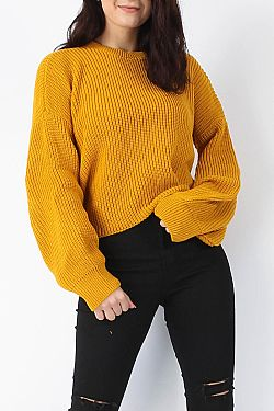 mustard must have blogger cropped πλεκτό