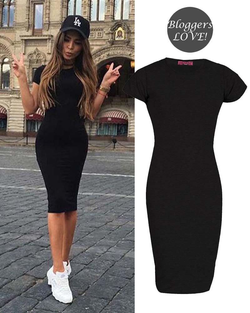 04b313563e4a basic allday viscose φόρεμα σε μαύρο