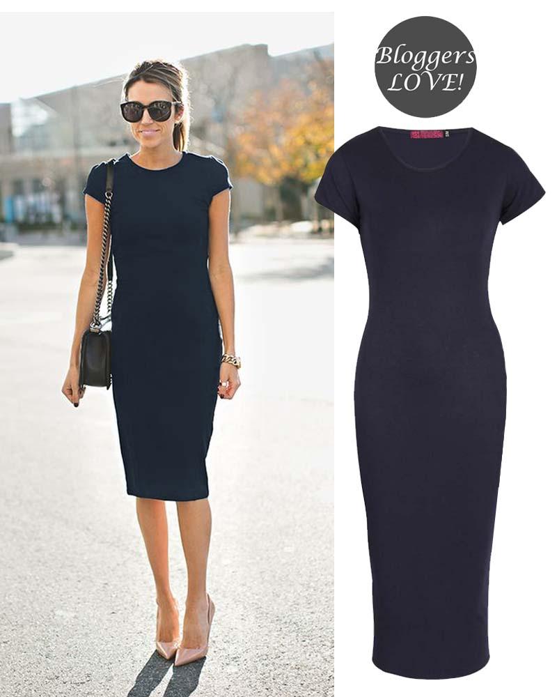 basic allday viscose φόρεμα σε μπλε navy 70ec52afde2