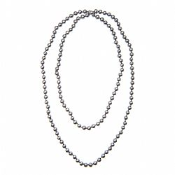 κολιέ long graphite pearls
