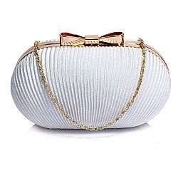 vintage clutch plisee Dita σε off white