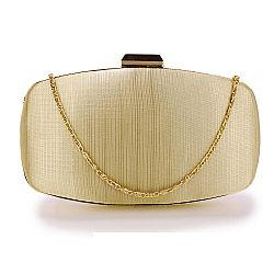 fine & neat satin clutch σε nude gold
