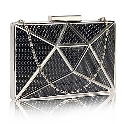 edgy intergalactic mesh clutch σε μαύρο