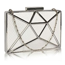 edgy intergalactic mesh clutch σε εκρού