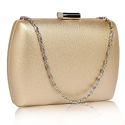 minimal oval spacious clutch σε χρυσό