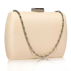 minimal oval spacious clutch σε nude