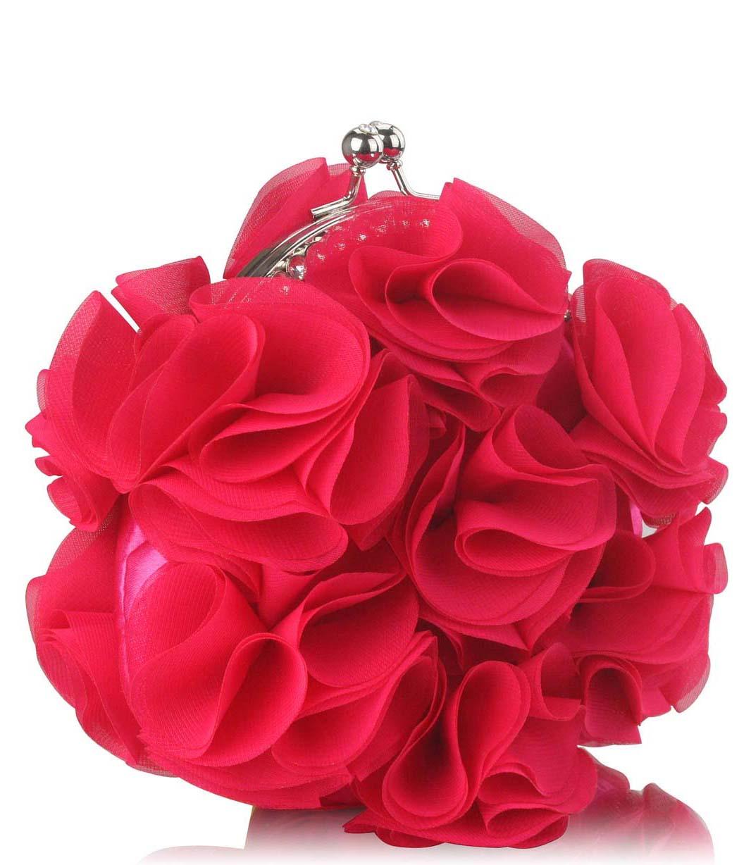 90e2081da4 vintage τσαντάκι flower petals in bloom σε φούξια