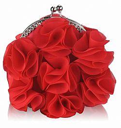 53fe3819f4 vintage τσαντάκι flower petals in bloom σε κόκκινο ...