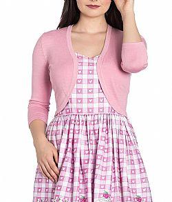 771cf1e0aad basic cute fine πλεκτό μπολερό Maggie σε candy ροζ ...