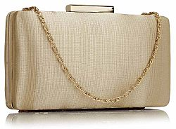 luxe in simplicity satin clutch σε nude