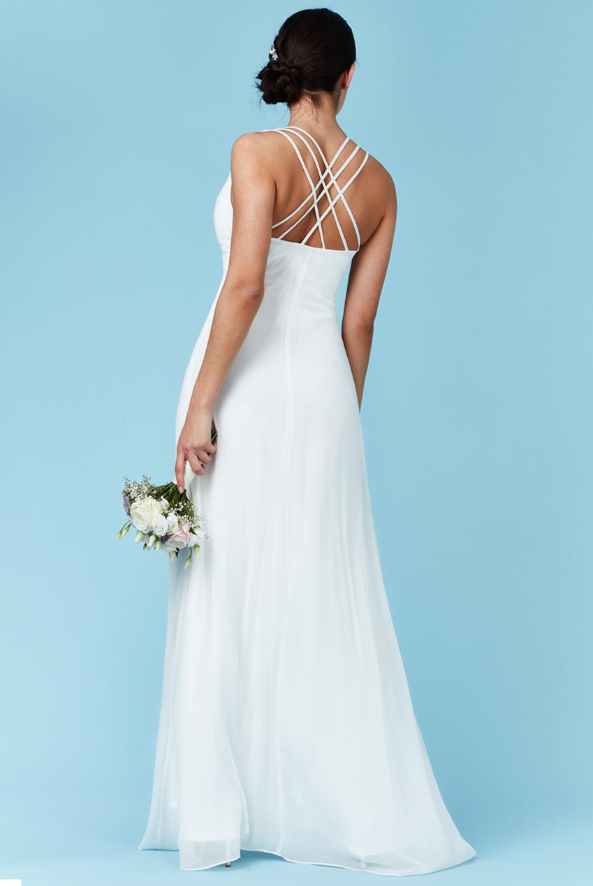 bridal αέρινο princess maxi φόρεμα σε λευκό 15df607e368