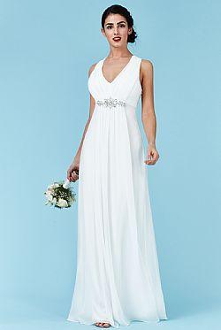 ... bridal αέρινο princess maxi φόρεμα σε λευκό 682df066e0b