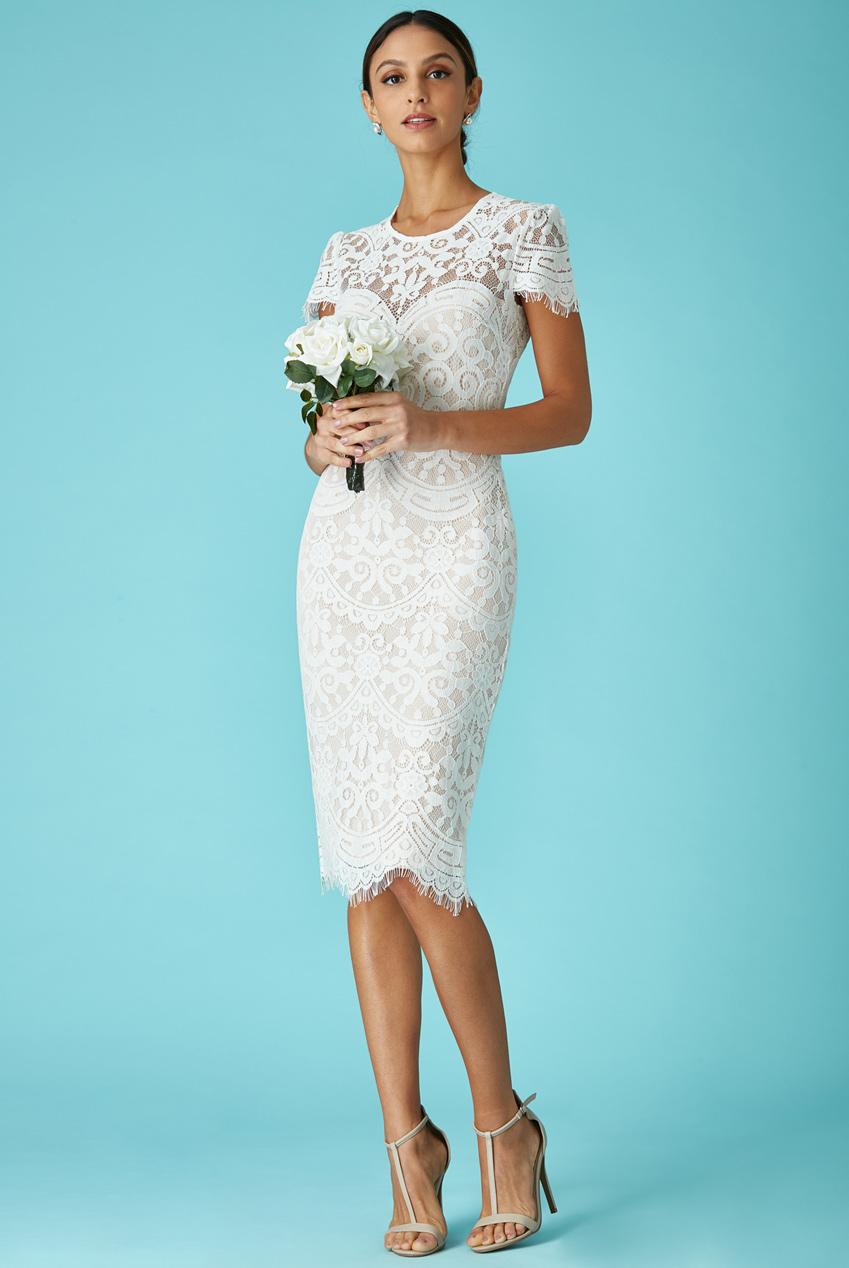 6bae93d5b963 bridal sophisticated φόρεμα chantilly δαντέλα σε λευκό