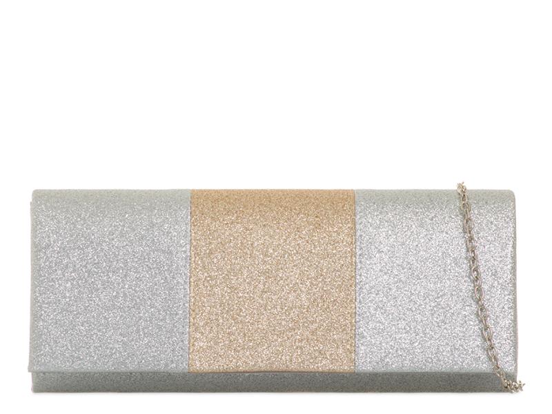 d055bd1fe5 βραδινό τσαντάκι silver   gold stripe