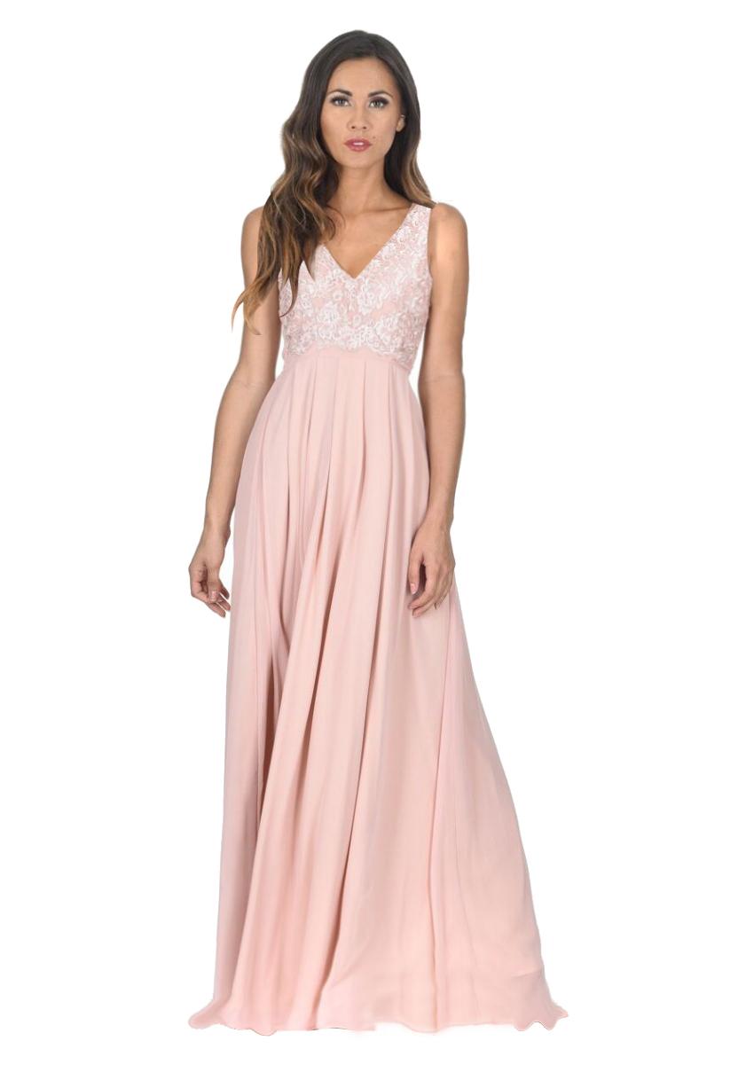 d0129f9cce8 αέρινο maxi φόρεμα σε nude