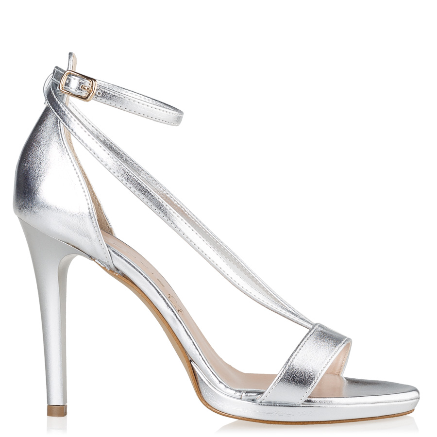 bridal silver πέδιλα ankle strap