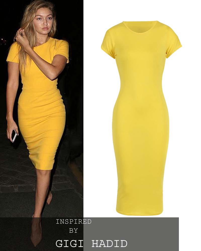 b247ab21fcf2 basic allday viscose φόρεμα σε κίτρινο