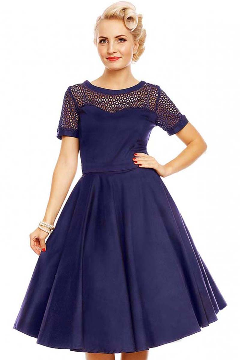 728bdcae66f7 Perfectdress vintage formal 50s φόρεμα cotton lace Tessa
