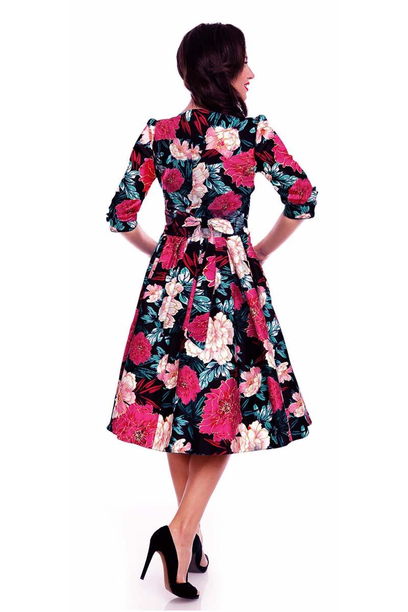 9de99c73af vintage φόρεμα chic retro floral Kathy