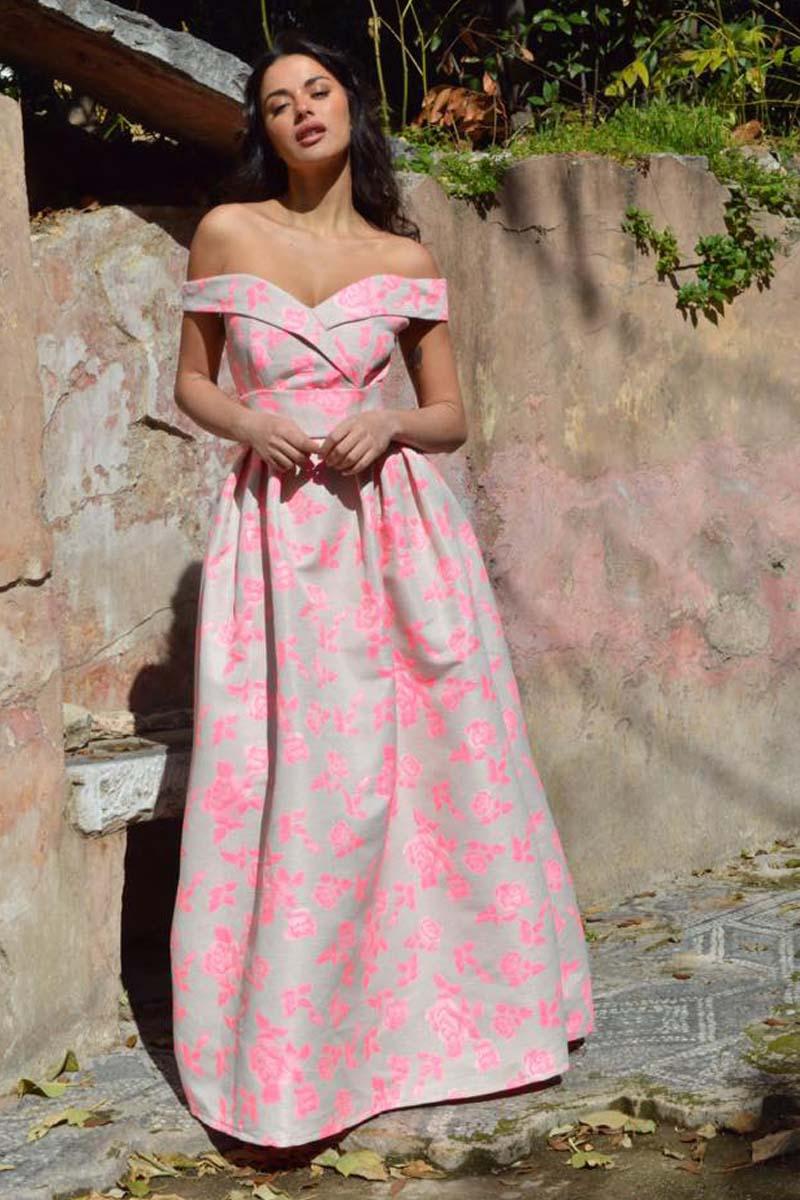 56ccc6d252b9 romantic floral brocade maxi φόρεμα Benedetta