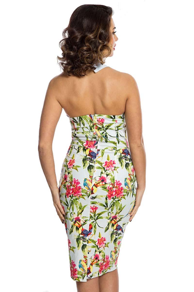 54df5462559 vintage pin up 50s φόρεμα tropical birds Bianca, ΓΥΝΑΙΚΑ | ΡΟΥΧΑ | ΦΟΡΕΜΑΤΑ
