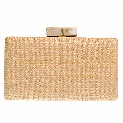 minimal clutch natural ψάθα Marble 2