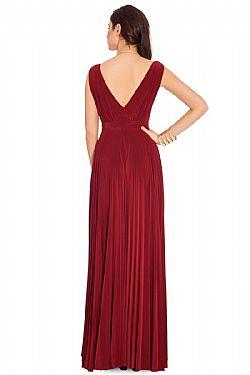 fbf6bfd34234 grecian goddess luxe maxi φόρεμα σε wine ...