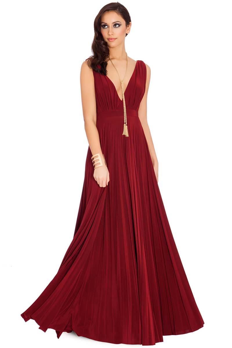 0ef5b5b0cb4b grecian goddess luxe maxi φόρεμα σε wine