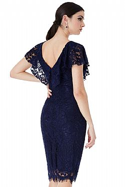 sophisticated frill fine φόρεμα chantilly lace Karen blue