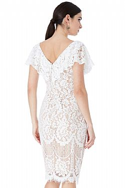 sophisticated frill fine φόρεμα chantilly lace Karen white