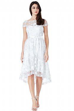 ... bridal rennaisance φόρεμα floral tulle high low b7f7e58cd97