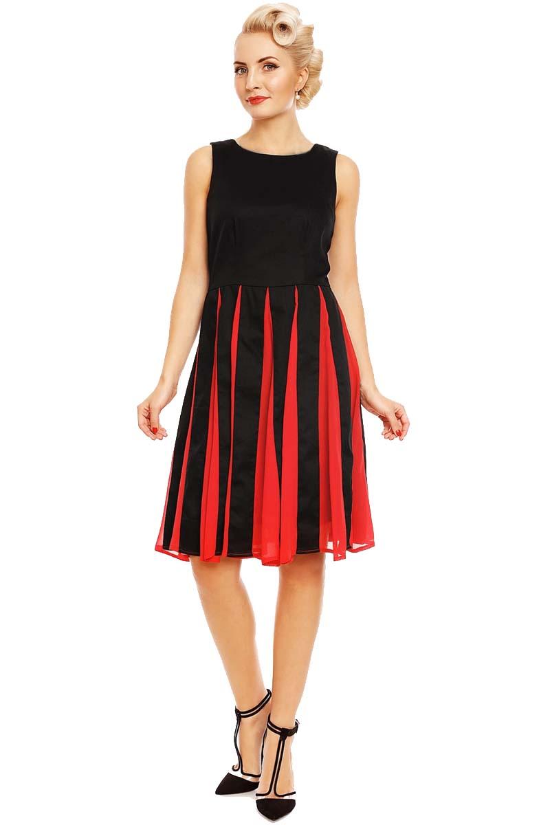 vintage chic φόρεμα Judith retro chiffon red b9e946bf28d