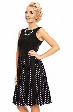 f7d56c904ea8 ... vintage chic φόρεμα Judith retro chiffon πουά