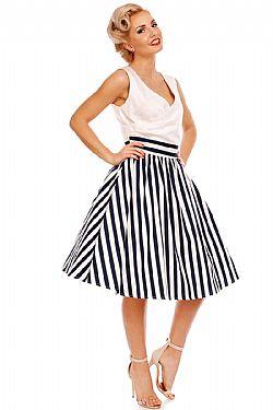 c7a9c7806b8 vintage chic ριγέ navy φόρεμα Magda ...