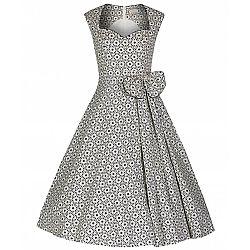 f46057a8fe25 ... vintage 50s chic φόρεμα Grazia crochet print