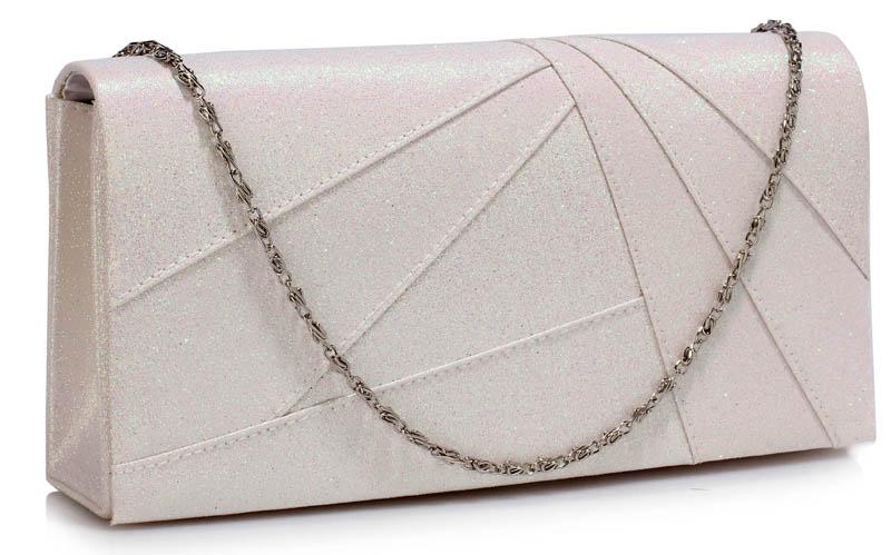 400ac993d7 satin glitter diagonal folded τσαντάκι σε λευκό