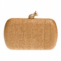 minimal clutch natural ψάθα Pineapple