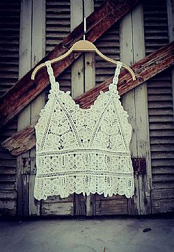 bohemian white crochet top Kira