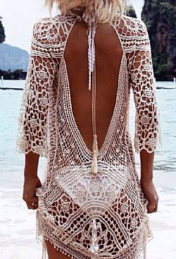 the ultimate beach kaftan σε μπεζ
