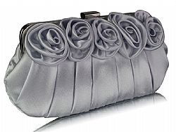 vintage τσαντάκι passionate roses silver