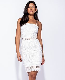 blogger hot crochet bodycon φόρεμα Lulu