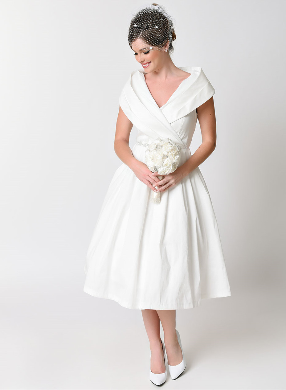 e06c84776a0c bridal vintage φόρεμα chic taffeta 50s off white